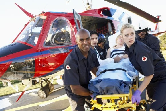 Patient transports by ambulance helicopter