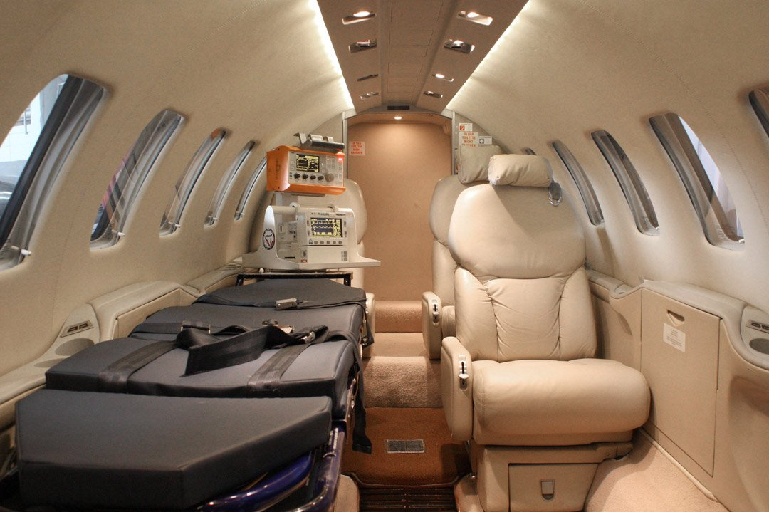 How is an air ambulance equipped?