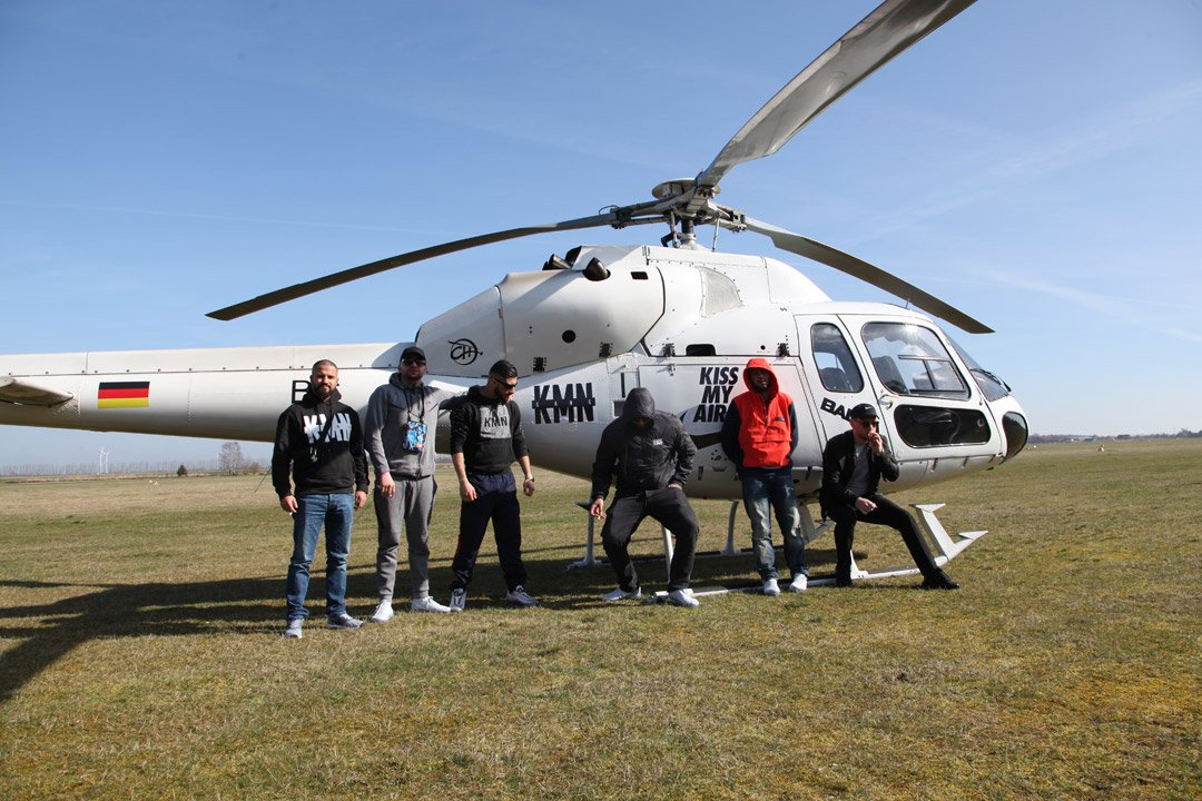 Helikopter Charter für KMN-Gang und Nike am Air Max Day
