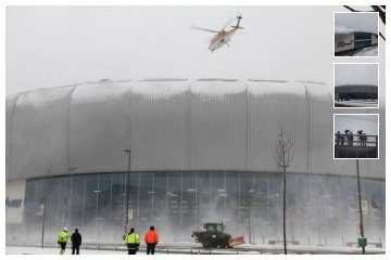 Clearing snow from the ISS Dome, Düsseldorf