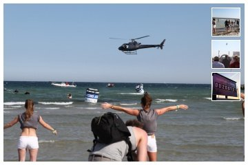 Helicopter stunt for a product presentation